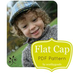 Newsboy Hat PDF Pattern - Boys Flat Cap 6 Months to Pre-Teen - Baby Toddler Childrens Hat Sewing Pattern