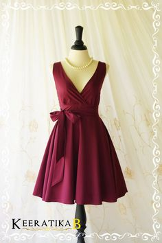 My Lady II Spring Summer Sundress Vintage Design Maroon Red Party Dress Maroon Bridesmaid Dress Garden Party Sundress Red Dresses XS-XL