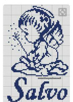 Cross Stitch Angels, Cross Stitch Baby, Cross Stitch Embroidery, Unicorn Cross Stitch Pattern, Cross Stitch Patterns, Baby Patterns, Crochet Patterns, Crochet Square Blanket, Crochet Placemats