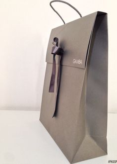 gift paper bag with briefcase shape