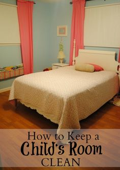 After lots of fighting with my daughter about keeping her room clean, I finally realized I had set her up for failure.  Find out why and our new strategy.    How to Keep a Child's Room Clean - We Got Real