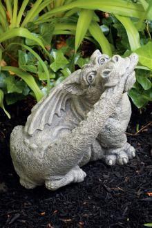 Makers of Fine Stone Garden Accents Dragon Heart, Fire Dragon, Baby Dragon, Fantasy Creatures, Mythical Creatures, Dragon Garden, Gothic Garden, Dragon's Lair, Fantasy Mermaids