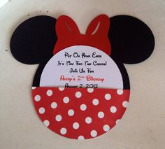 Handmade Custom Red Minnie Mouse Birthday by whimzycreations