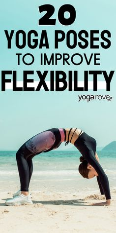 Improve your flexibility with these 20 yoga poses. I am so much more flexible after practicing these poses. I love being more flexible! Learn Yoga, How To Do Yoga, Yoga Terms, Yoga Poses For Two, Yoga Routine For Beginners, Yoga For Flexibility, Yoga At Home, Beginner Yoga, Yoga Sequences