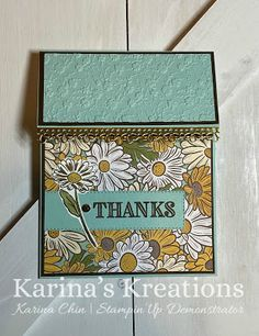 Karina's Kreations: Stampin'Up Ornate Thanks Easy Pop Up Card Sneak Peek! Fun Fold Cards, Folded Cards, Daisy, Stampin Up Catalog, Stamping Up Cards, Card Making Techniques, Pretty Cards, Paper Cards, Homemade Cards