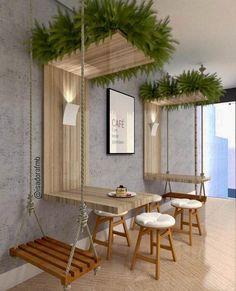 Ideas For Design Furniture Shop Deco Deco Restaurant, Outdoor Restaurant Patio, Coffee Shop Design, Interior Design Coffee Shop, Interior Design Plants, Best Interior Design, Interior Ideas, Restaurant Interior Design, Coffee Cafe Interior