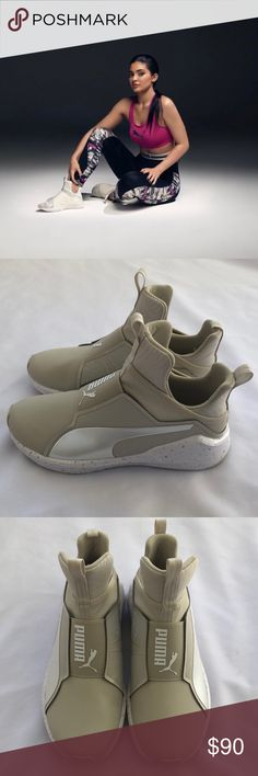 Details about PUMA Fierce Core Quilted Training Lace Less High Top Sneaker Fenty Streetwear 10