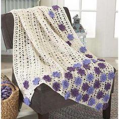 Lavender Fields Throw Crochet Pattern $4.99