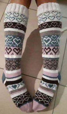 Crochet Socks, Knitting Socks, Knit Crochet, Knitting Projects, Knitting Patterns, Boot Cuffs, Cool Socks, Needlework, Winter Fashion