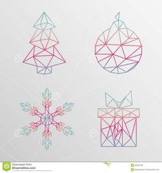 Abstract Geometric Christmas designs - for the pillar drawings?