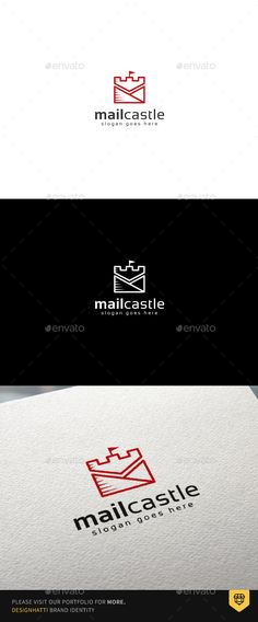 Mail Castle Logo  — PSD Template #mail #company • Download ➝ https://graphicriver.net/item/mail-castle-logo/18389577?ref=pxcr
