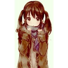 anime girl Tumblr We Heart It found on Polyvore featuring polyvore, anime and filler