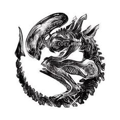 Coey: Holographic Xenomorph Sticker by CoeyAndShy on Etsy Alien Tattoo Xenomorph, Predator Tattoo, Giger Alien, Predator Alien, Alien Queen, Alien Art, Alien Convenant, Alien Concept Art, Aliens Movie