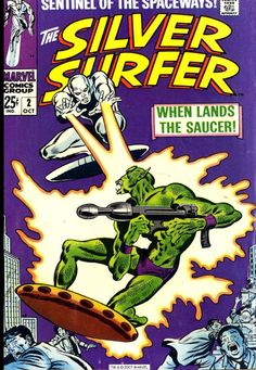 Silver Surfer #2, October 1968, cover by John Buscema and Joe Sinnott tumblr_nrtf9uF6Ax1qbgo38o1_540.jpg (540×781)