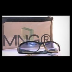 Mango Retro Sunglasses. Lightly used......Mango retro specs with original case.  It's a London UK Thing. Mango Accessories Sunglasses