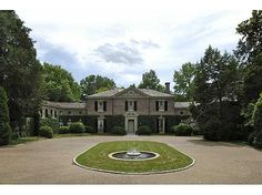 Magnificent property! Beautiful Georgian home w/marble foyer, curved stair, 7Fps, elevator, incredibly handsome library. Gorgeous grounds enclosed by old brick wall, pool. Guest house, 2234 ft w/3bds, 4marble bas, full kit, Fp in liv rm, generator (Uploaded Wednesday) #zillow