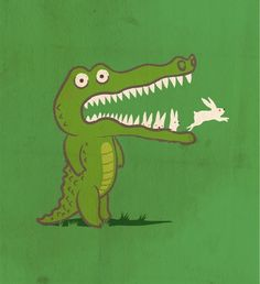 Bunnies & a crocodile, two of my favorite things.