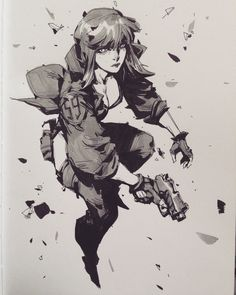 Motoko Kusanagi, Ghost in the Shell Manga Art, Manga Anime, Reference Manga, Masamune Shirow, Motoko Kusanagi, Girls Anime, Cyberpunk Art, Ghost In The Shell, You Draw