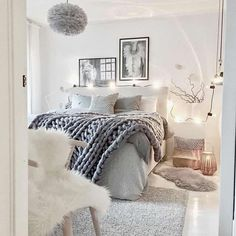 jumbo knit blanket, sheepskin, black and white art, lovely