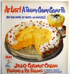 Vintage Jello Pudding Magazine Advertisment by mamiezvintage, $8.95