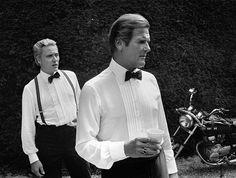 Roger Moore and Christopher Walken