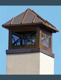 Copper Chimney Cap | This piece boasts both antique charm and modern…