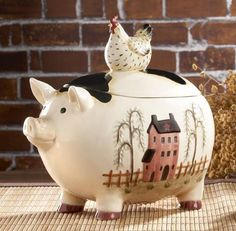A Friendly Colorful Pig Will Decor On Pinterest