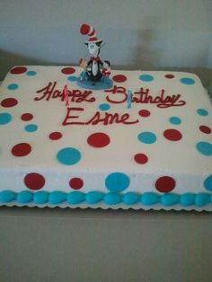 Simple cat in the hat cake from Safeway