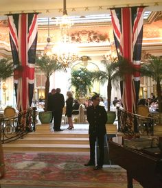 the lobby of the Ritz Hotel on Piccadilly is like stepping back in time to VE Day London Photos