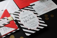 black, white + gold for a new orleans wedding — KRUSHgraphics