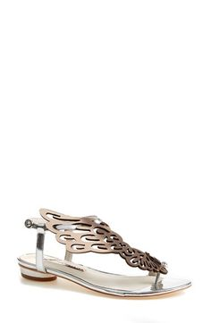 SOPHIA WEBSTER 'Seraphina' Metallic Leather Sandal (Women) available at #Nordstrom