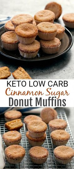 These donut muffi… Keto Cinnamon Sugar Donut Muffins. These donut muffins are so fluffy and light! And they are low carb, gluten free and keto-friendly Healthy Low Carb Recipes, Low Carb Desserts, Ketogenic Recipes, Low Carb Keto, Ketogenic Diet, Diet Recipes, Keto Fat, Ketosis Diet, Ketogenic Lifestyle