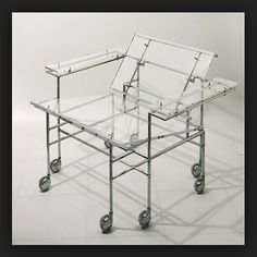 Modern Lucite Chairs on Castors