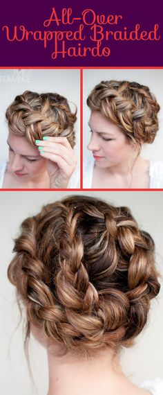 All-Over Wrapped Braided Hairdo | 26 DIY Hairstyles Fit For A Princess