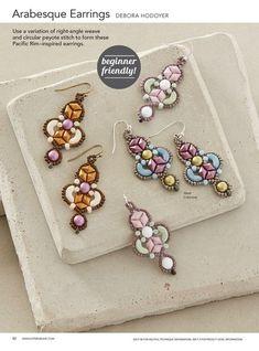 Photo Seed Bead Earrings, Beaded Earrings, Earrings Handmade, Beaded Jewelry, Beading Projects, Beading Tutorials, Beading Patterns, Necklace Tutorial, Earring Tutorial