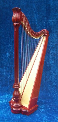 Roma Rosa harp from Marini harps Really tall, over 5 feet, tall for a lever harp Mountain Music, Music Lovers, Musical Instruments, Musicals, Carving, Ballet, Play, Collection, Rome