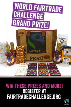 Sign up to win these Fairtrade goodies at FairtradeChallenge.org
