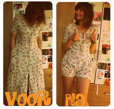 Dress turned into a cute romper...                                                                                                                                                      More