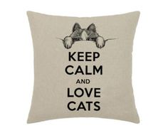 Keep Calm and Love Cats Pink Kitten Cat Kitty Looking Out Art Print - print on natural linen canvas - decorative pillow cover This is an exclusive limited edition engraving only sold Puppies And Kitties, Cute Cats And Kittens, I Love Cats, Kittens Cutest, Crazy Cat Lady, Crazy Cats, Cat Boarding, All About Cats, Keep Calm And Love