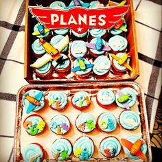 #planes #disney #cupcakes #birthday #boy #madebyme #airplane #cloud #color #fun #skyblue #babyblue #blue Cupcake Heaven, 4th Birthday Parties, Pinterest Board, Baby Blue, Disney, Planes, Fun, Cupcakes, Party Ideas