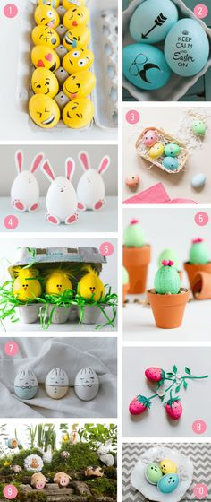 Easter Egg Decorating Ideas for Kids. 70 Creative Ways To Decorate Your Eggs! - what moms love