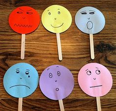 Emotions game- the kids loved these more than I thought they would! We did a whole lesson where we mimiced the emotion and where we talked about what caused the emotion. Afterwards I put them out for free choice with mirrors and a dry erase board and the Emotions Game, Teaching Emotions, Emotions Activities, Happy Emotions, Feelings And Emotions, Therapy Activities, Preschool Activities, Feelings Preschool, All About Me Preschool Theme