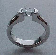 Unique OOAK 1.61 Carat Oval Cut Canadian Diamond Tension Set in Hand Forged 10% Iridium Platinum Hand Made in Canada Engagement Ring on Etsy, $30,361.28