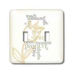 PS Inspirations - Be Open and Free Poetry - Poem Collage - P Sanders Poetry - Inspirational - Light Switch Covers - double toggle switch