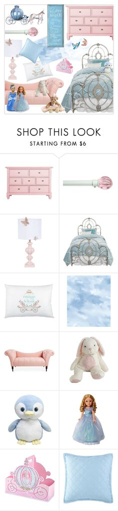 """""""Serenity & Rose Quartz Cinderella Bedroom"""" by nancyreo ❤ liked on Polyvore featuring interior, interiors, interior design, home, home decor, interior decorating, Arlo Blinds, Disney, York Wallcoverings and bedroom"""