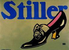 GERMANY: plakastijl,  Lucien Bernhard, poster for Stiller shoes, 1912.