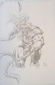 Omega Red - David Finch Comic Art