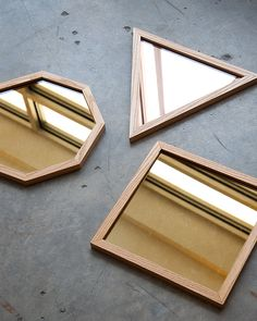 Love these geometric mirrors.