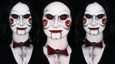 Billy - Jigsaw Saw Makeup Tutorial   LATEX FREE (CC)