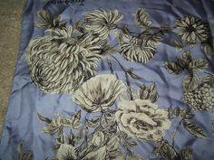 lovely vintage silk scarf JACQMAR 1950s floral lilac /grey sketch | eBay